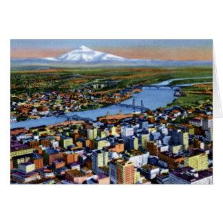 Portland Oregon Birdseye View Card