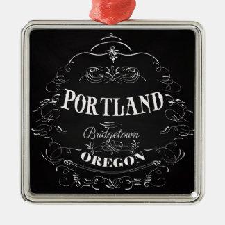 Portland, Oregon - Bridgetown Metal Ornament
