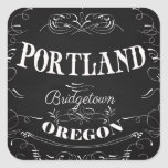 Portland, Oregon - Bridgetown Pegatina Cuadrada