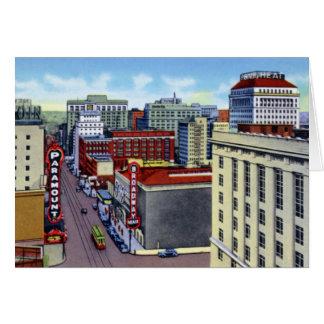 Portland Oregon Broadway and Main Streets Card