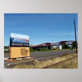 Portland Oregon Broadway Bridge Poster