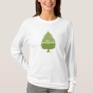 Portland, Oregon calligraphy tree T-Shirt