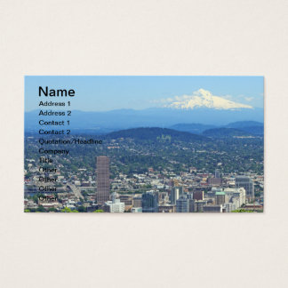 Portland, Oregon City and Mountain View Business Card