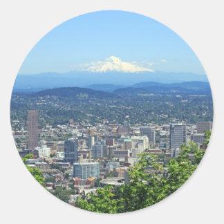 Portland, Oregon City and Mountain View Classic Round Sticker