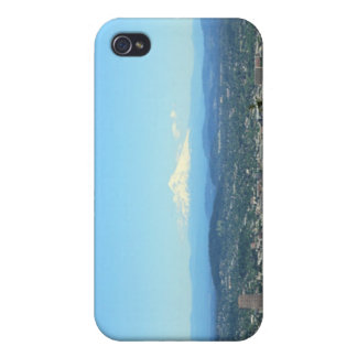 Portland, Oregon City View, Mount Hood background iPhone 4/4S Cover
