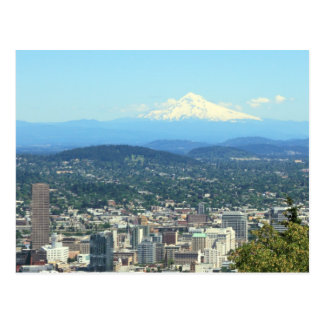 Portland, Oregon City View, Mount Hood background Post Cards