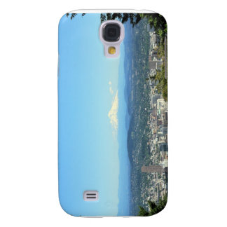 Portland, Oregon City View, Mount Hood background Samsung Galaxy S4 Cover