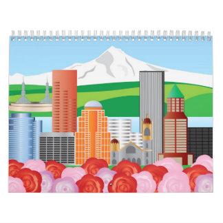 Portland Oregon Cityscape Calendar