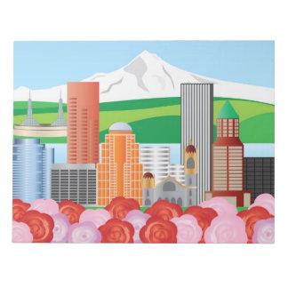 Portland Oregon Cityscape Notepad