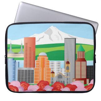 Portland Oregon Cityscape Skyline Electronics Bag Laptop Computer Sleeve