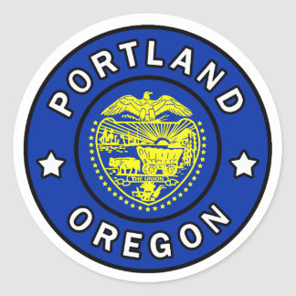 Portland Oregon Classic Round Sticker