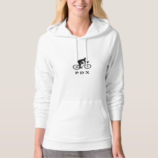 Portland Oregon Cycling PDX Acronym Hooded Pullover