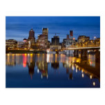 Portland Oregon Downtown at Blue Hour Postcard
