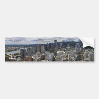Portland Oregon Downtown City View Bumper Sticker