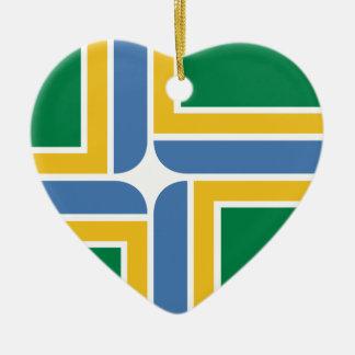 Portland, Oregon, Estados Unidos señala por medio Adorno Navideño De Cerámica En Forma De Corazón