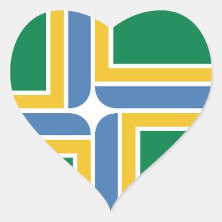 Portland, Oregon Flag Heart Sticker