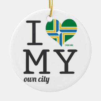 Portland Oregon I love my own city Ceramic Ornament