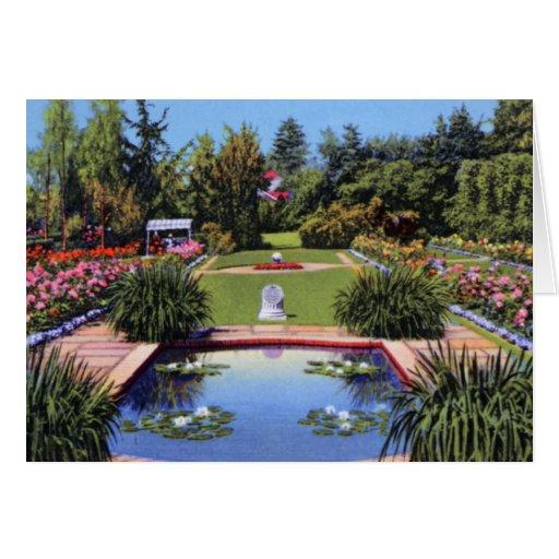 Portland Oregon Lambert Gardens Greeting Card