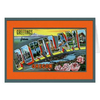 Portland Oregon Large Letter Card