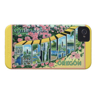 Portland Oregon Large Letter Greetings iPhone 4 Cover