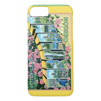 Portland Oregon Large Letter Greetings iPhone 8/7 Case