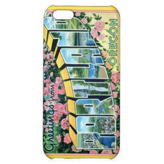 Portland Oregon Large Letter Greetings Cover For iPhone 5C