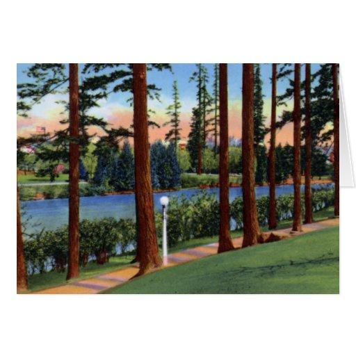 Portland Oregon Laurelhurst Park Greeting Card