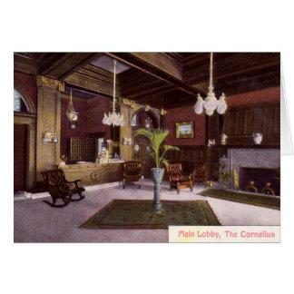 Portland Oregon Lobby, The Cornelius, Card