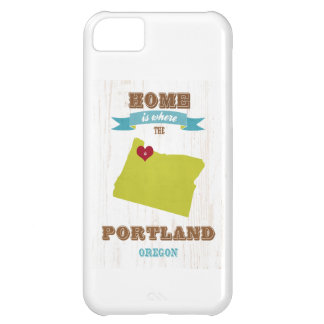 Portland, Oregon Map – Home Is Where The Heart Is iPhone 5C Case