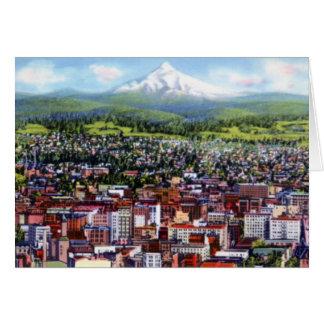 Portland Oregon Mt. Hood from City Card
