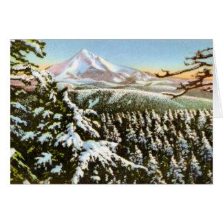Portland Oregon Mt. Hood in winter Card