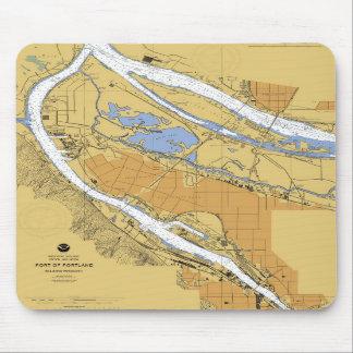 Portland Oregon Nautical Harbor Chart Mousepad