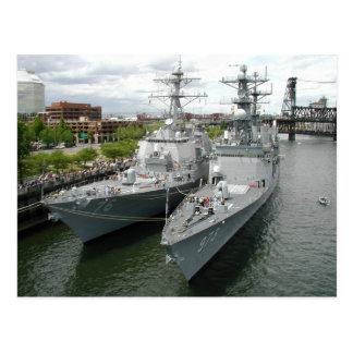 Portland Oregon Navy Ships Postcards
