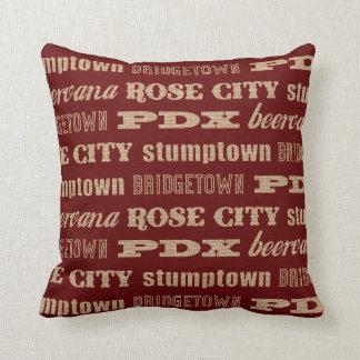 Portland Oregon Nicknames Throw Pillow