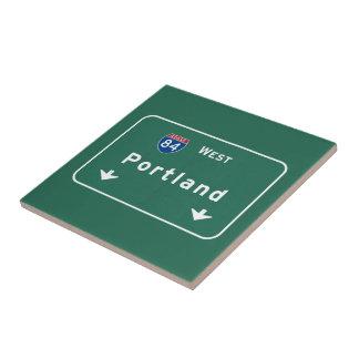 Portland Oregon o autopista sin peaje de la Azulejo Cuadrado Pequeño