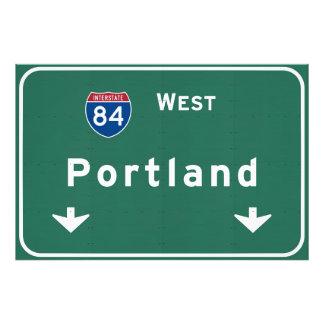 Portland Oregon o autopista sin peaje de la Fotografías