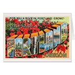 Portland Oregon O recuerdo viejo del viaje del Tarjeta De Felicitación