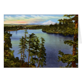 Portland Oregon Oswego Lake Card