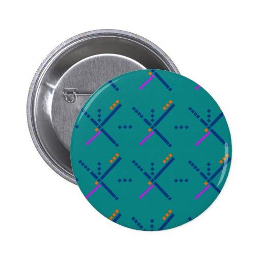 Portland Oregon PDX Airport Carpet 2 Inch Round Button