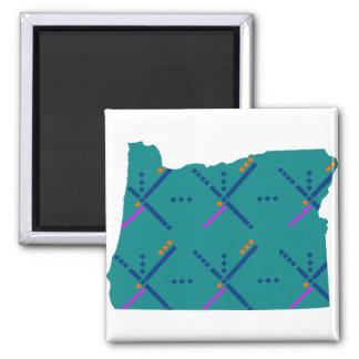 Portland Oregon PDX Airport Carpet 2 Inch Square Magnet