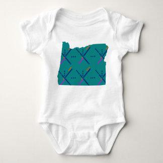 Portland Oregon PDX Airport Carpet Baby Bodysuit