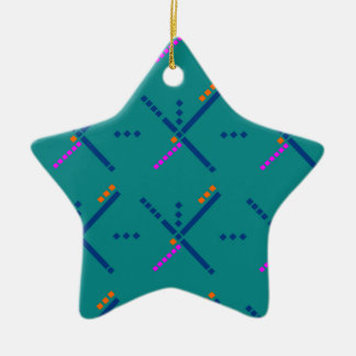Portland Oregon PDX Airport Carpet Double-Sided Star Ceramic Christmas Ornament