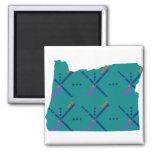 Portland Oregon PDX Airport Carpet Fridge Magnet