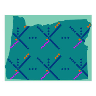 Portland Oregon PDX Airport Carpet Postcard