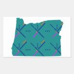 Portland Oregon PDX Airport Carpet Rectangular Sticker