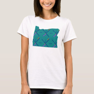 Portland Oregon PDX Airport Carpet T-Shirt