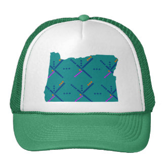 Portland Oregon PDX Airport Carpet Trucker Hat