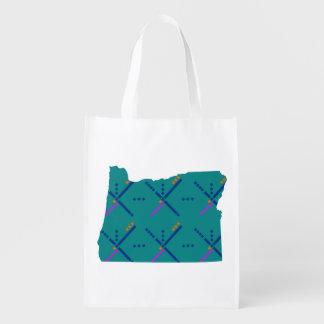 Portland Oregon PDX Airport Carpet Grocery Bag