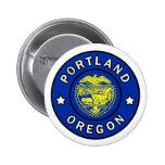 Portland Oregon Pin Redondo De 2 Pulgadas