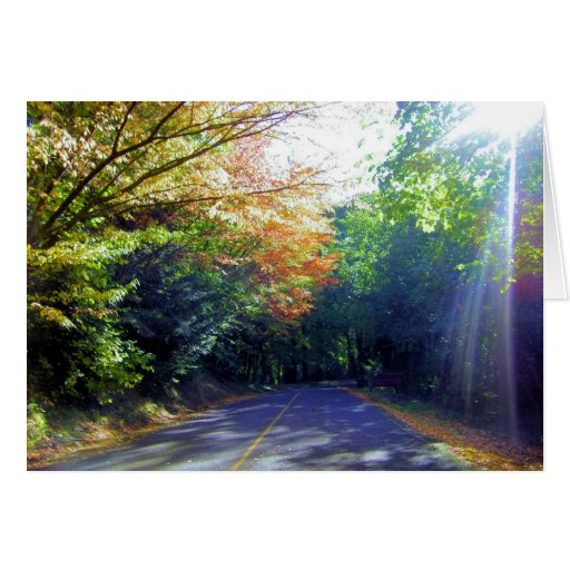 Portland, Oregon Road to the Rose Garden Greeting Card